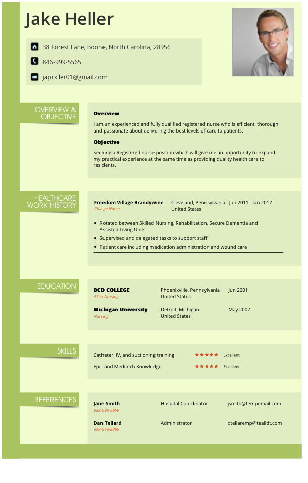 travel and tourism resume